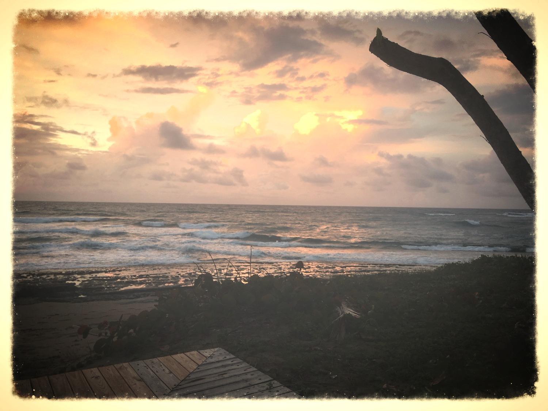 Un sompteux couché de soleil en République Dominicaine