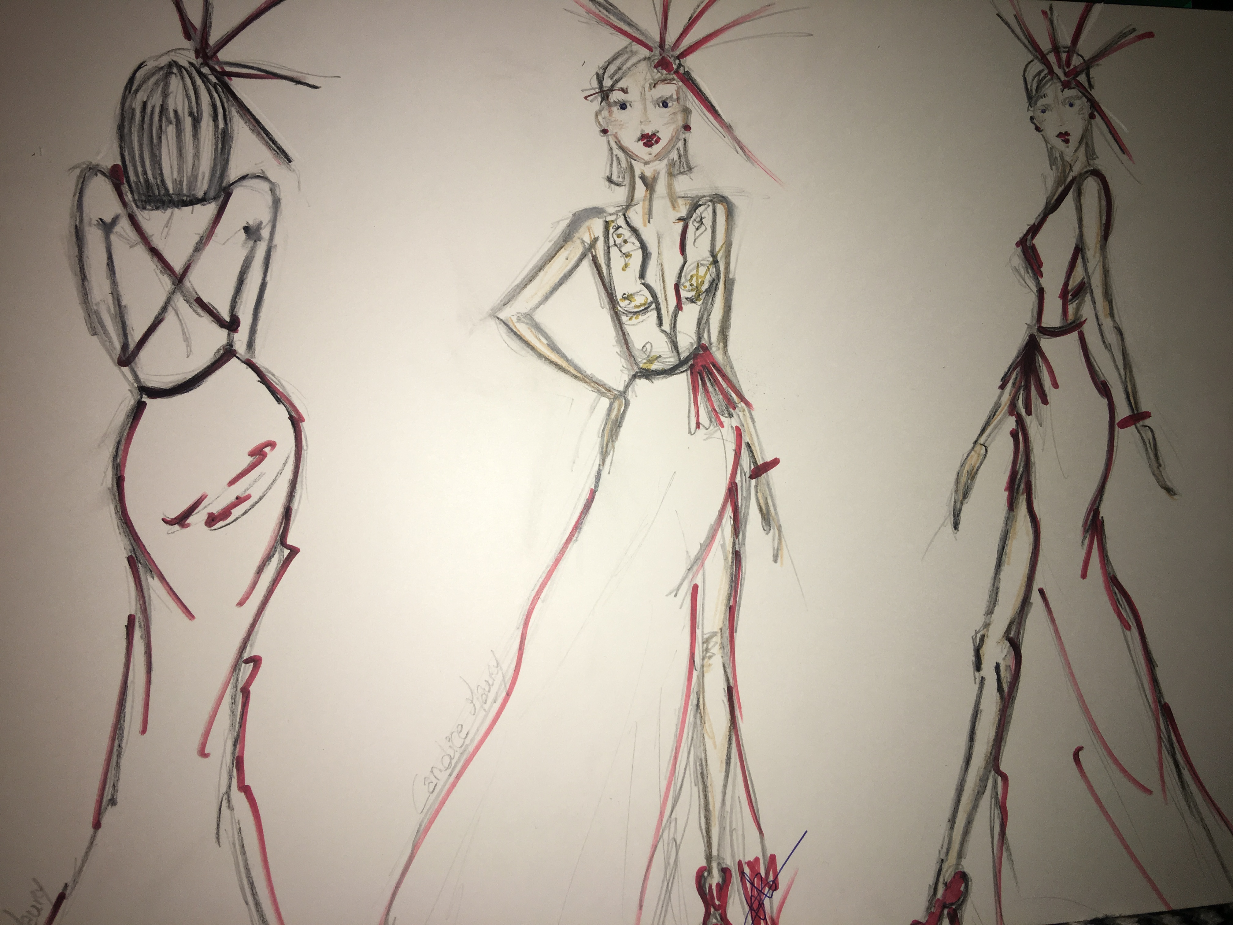 croquis mode creation couture