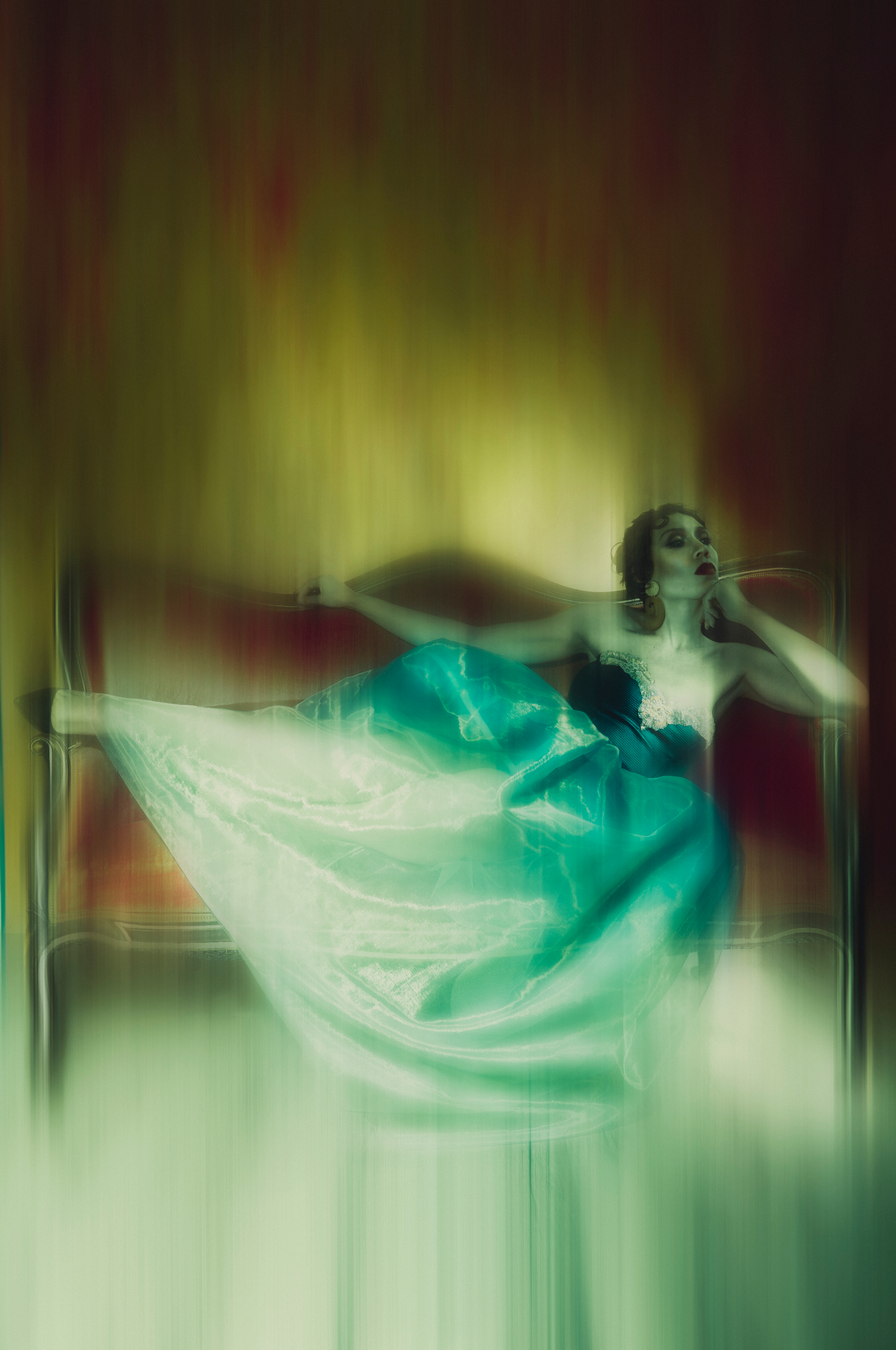 création couture photoshoot light painting