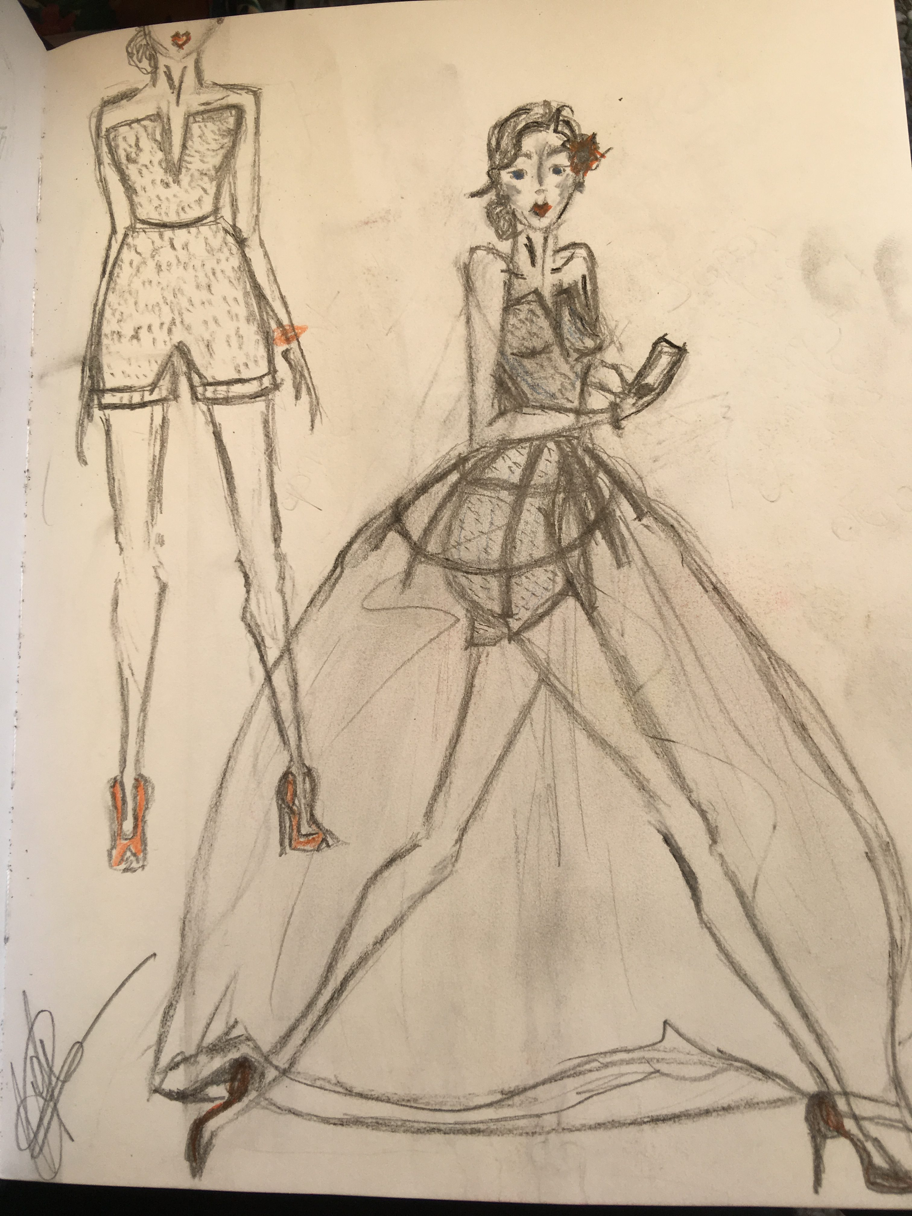création couture croquis styliste candice maury