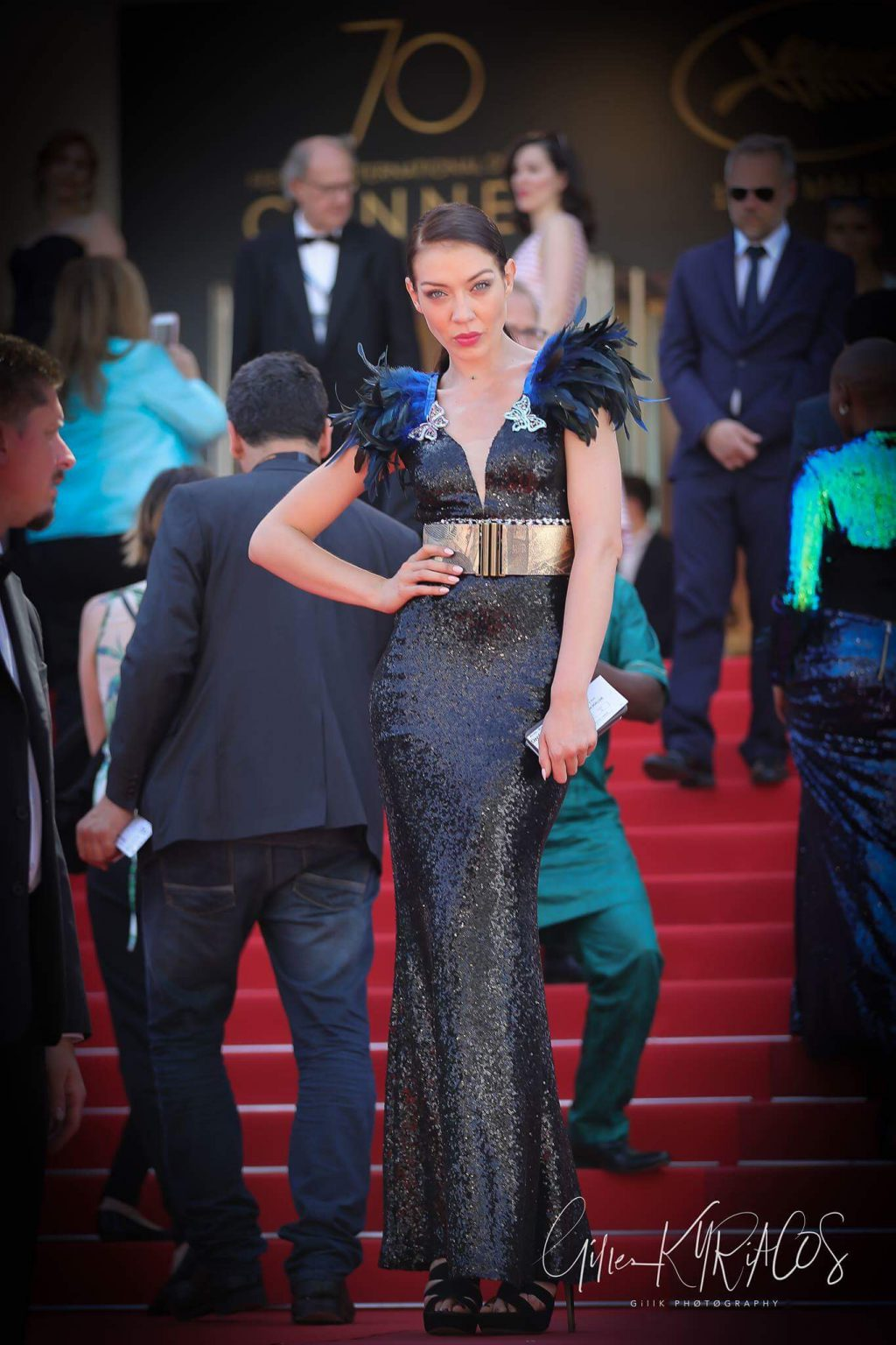 festival de cannes red carpet candice maury anggy haif