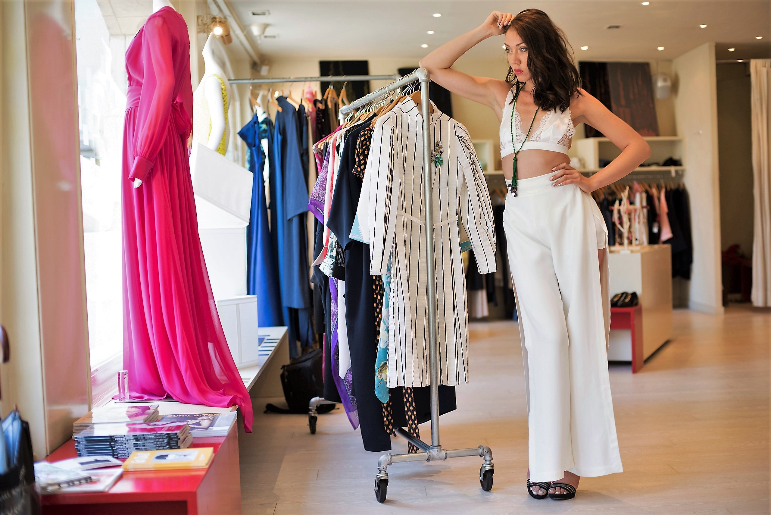 Jessica Choay white pant