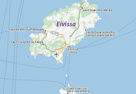 eivissa spain map