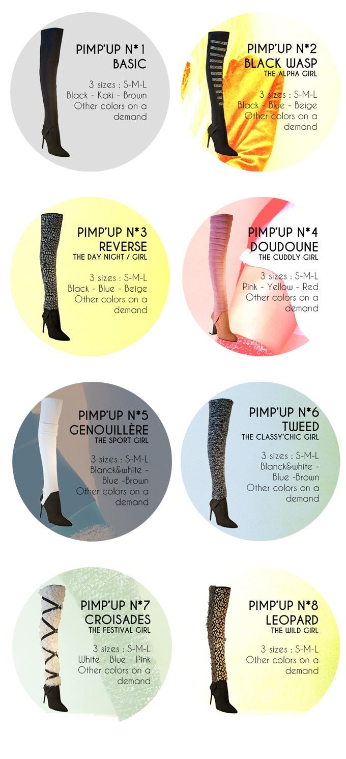 pimp'up collection accessoire chaussure mode femme